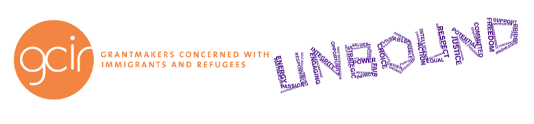 logo collage- GCIR -orange logo + Unbound - purple logo