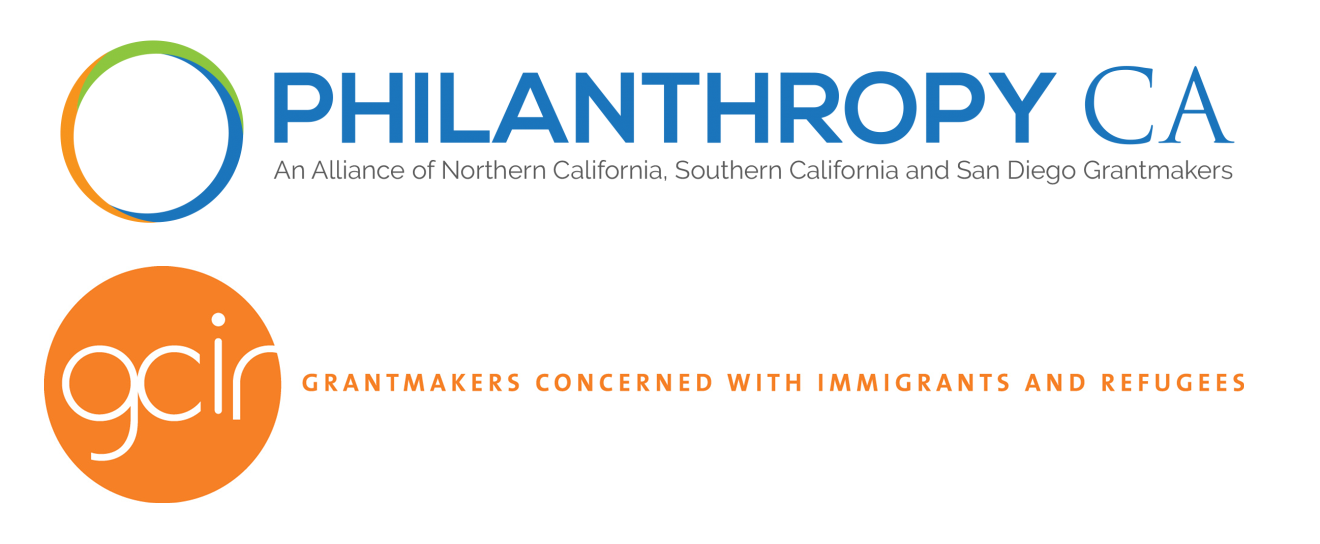 The logos of Philanthropy California and Grantmakers Concerned with Immigrants and Refugees. Posted to accompany the organizations' joint statement, The Supreme Court of the United States Temporarily Blocks Citizenship Question; Our Fight for an Accurate Count Continues.