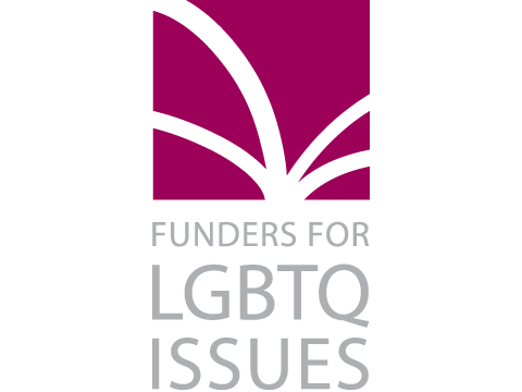 Funders for LGBTQ Issues, which features a series of white rays emanating from a single point in a block of purple above their spelled out name. Posted to accompany their statement, Join Us in Fighting For Healthcare Rights.