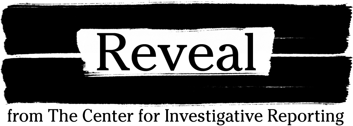 The logo for Reveal, which includes the word 'Reveal' in white against a black background.