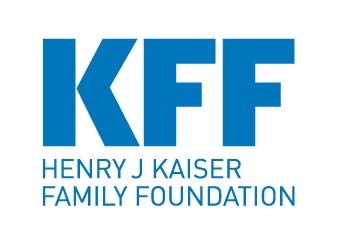 "The Henry J. Kaiser Family Foundation logo, which features their acronym, KFF, above their spelled out name, all in blue letters. Accompanies their analysis, Changes to ""Public Charge"" Inadmissibility Rule: Implications for Health and Health Coverage."