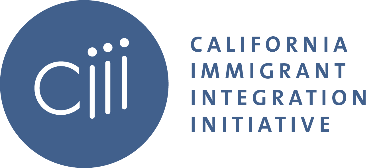 CIII-funder-network-logo-blue-circle-on-left-with-text-ciii-in-center-and-Ca-immigrant-integration-initiative-text-on-right