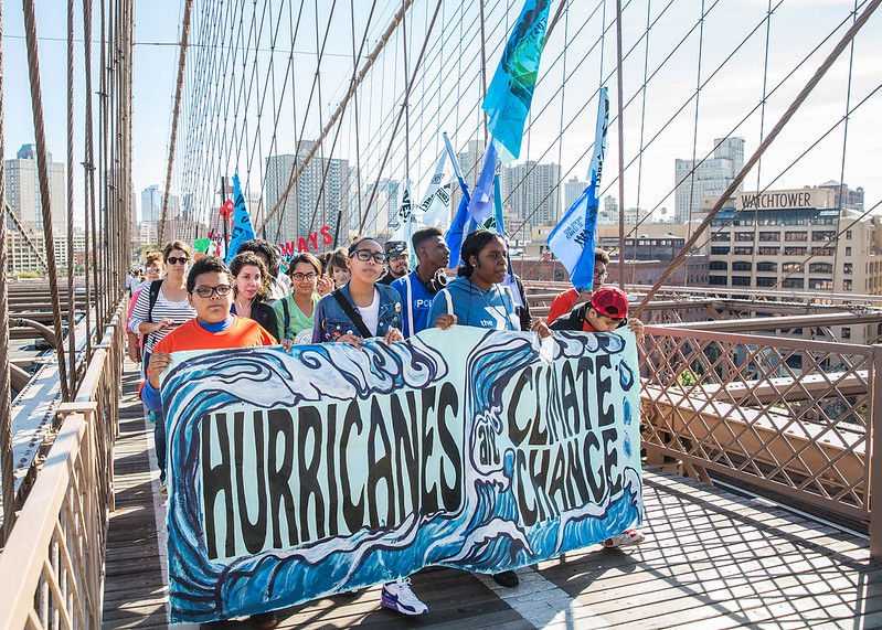 Working Families Party Image: Hurricanes are Climate Change_March