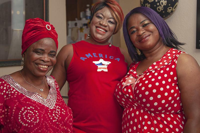 Three American Women-smiling