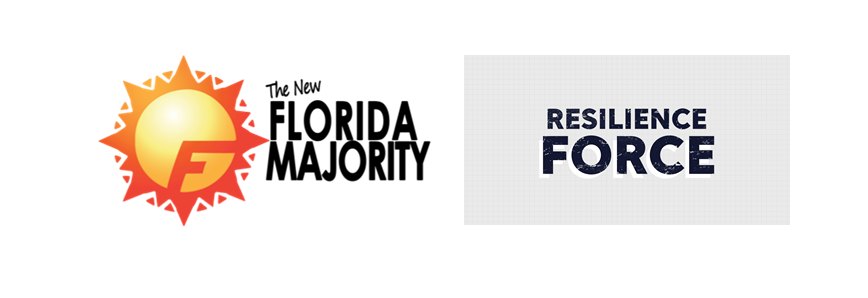 The Florida Majority and Resilience Force Logos_A Conversation About Equity in Hurricane Recovery in Florida
