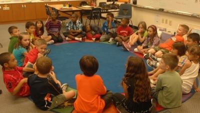Classroom circle of children Flickr USAG Humphreys Creative Commons