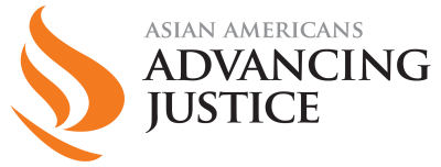 Asian Americans Advancing Justice logo, posted to accompany their statement, Advancing Justice | AAJC Applauds Supreme Court Decision to Uphold Lower Court Ruling in Citizenship Question.