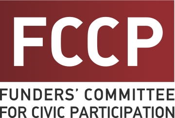 Funders' Committee for Civic Participation logo, posted to accompany their statement, FCCP Statement on Citizenship Question Case