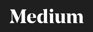 "Medium logo, featuring their name in white letters on a black background. Posted to accompany the post, ""We can't achieve immigration justice without gender justice, too."""
