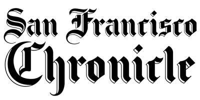 The San Francisco Chronicle logo, which features their name spelled out in black ornate script. Posted to accompany the commentary piece, Open Forum: Why crossing border shouldn't be a crime.