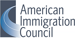 American Immigration Council logo, which features their name on the right and a blue road running into the distance on the left. Posted to accompany the report, The Landscape of Immigration Detention in the United States.