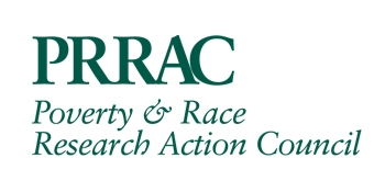 The Poverty & Race Research Action Council logo, which features their name under their acronym, PRRAC, all in green letters. Posted to accompany their report, Immigrant Integration and Immigrant Segregation: The Relationship Between School and Housing Segregation and Immigrants' Futures in the U.S.