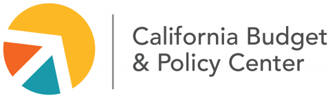 Logo for the California Budget and Policy Center. Used in associated with their resource, Data Hits: California's Immigrants Make Significant Contributions to the State Economy; Poverty More Prevalent Among Children of Working Immigrant Families